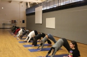 Yoga in the Dance room